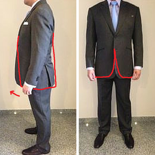 Erect posture with short back