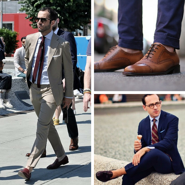 sockless with suits